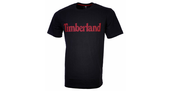 Timberland Men's SS Traditional Linear Logo Tee navy